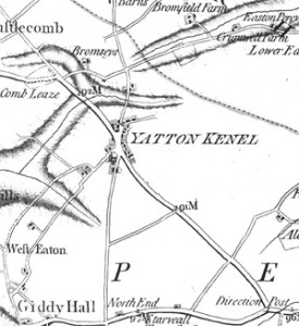 Old map of Yatton Keynell